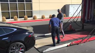 2015 tesla model s p85d delivery insane mode