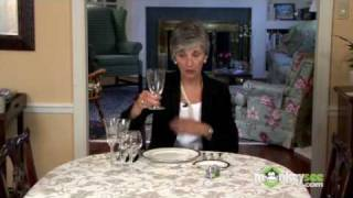 Basic Dining Etiquette - The Glass Ware