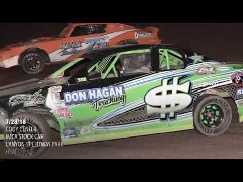 7/28/18 IMCA Stock Car Canyon Speedway Park Heat & Main Event