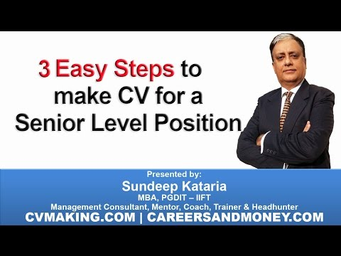 A Winning Senior Executive CV Template - EO Masterclass Part 1