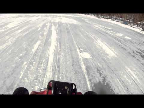 Atv runs from cop on snowmobile