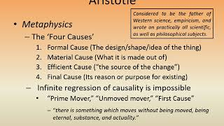 philosophical issues surrounding aristotles final cause Aristotle criticises plato's conception of the good, the agaton, which sometimes is a cause, sometimes not causality is not essential to the agaton, as it comes by addition for aristotle, the platonic idea is simply a formal cause, not an efficient or final cause.