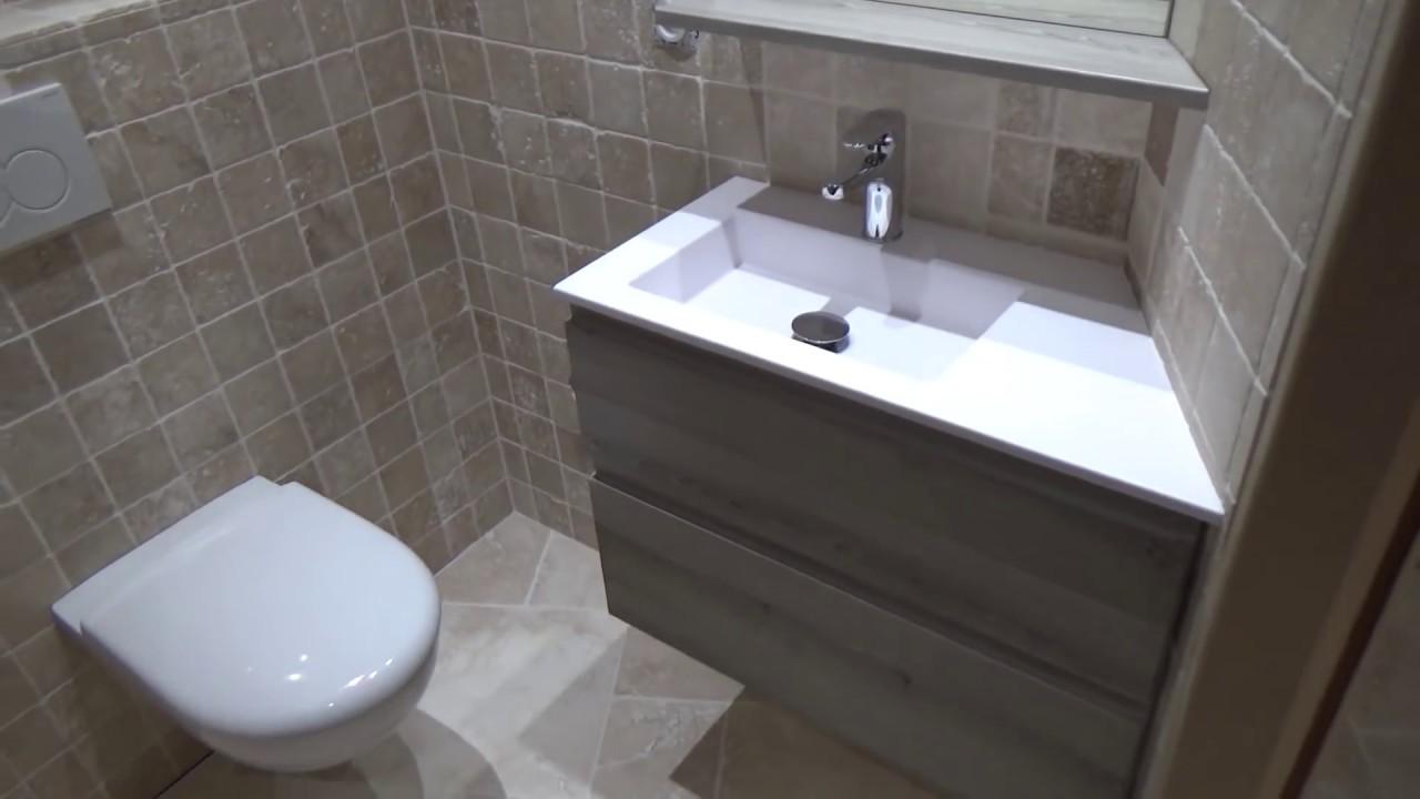 Meuble sur mesure pour une petite salle de bain de 3m - Meuble pour petite salle de bain ...