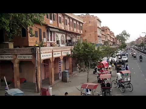 Rajasthan Tourism heritage Jaipur visit pink city view from open bus