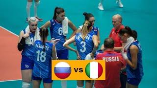 Волейбол. Россия - Италия. Женщины. 1/4 Финала. Чемпионат Европы 2019