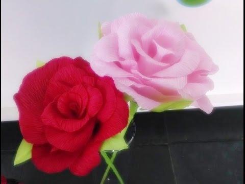 diy flor de papel crepom