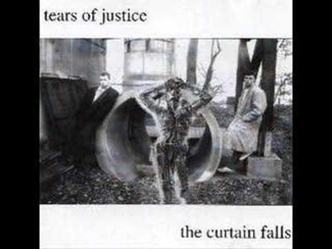 blue curtains falls
