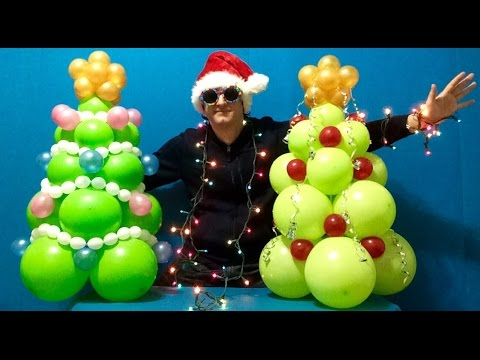 christmas tree balloon decoration tutorial - Christmas Balloon Decor
