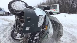 Последствия ДТП с 16 пострадавшими в Кемеровском районе