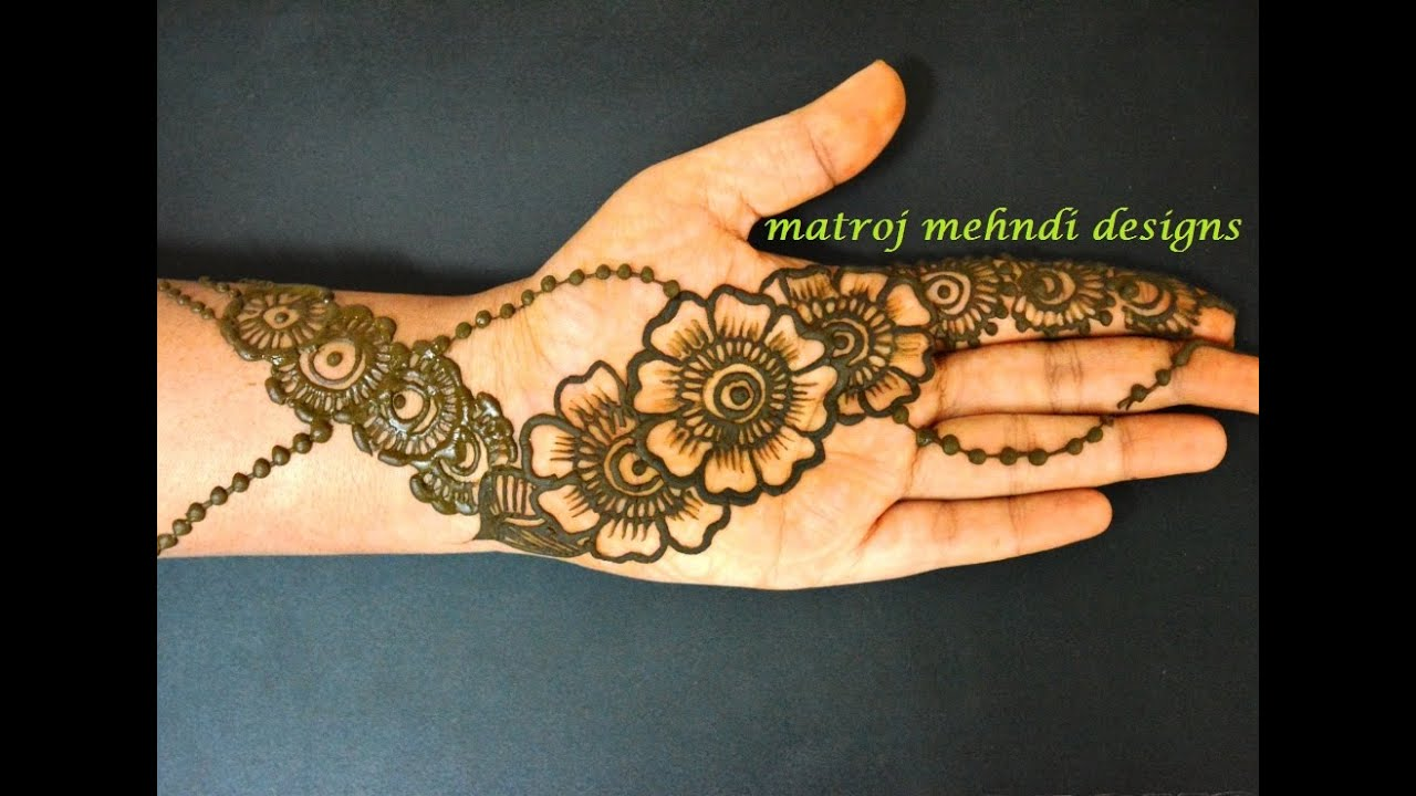 Mehndi Easy Design : Easy simple beautiful floral mehndi henna designs for handsmatroj