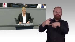 Gebärdensprachvideo: Generaldebatte zum Kanzleretat