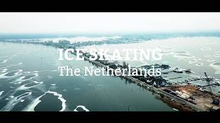 Ice skating in the Netherlands Winter 2018