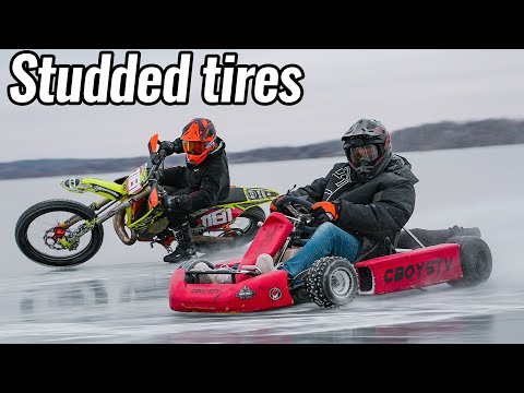 Shifter Kart and Dirt Bike on Thin Ice