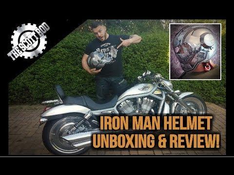 IRON MAN MOTORCYCLE HELMET UNBOXING & REVIEW!