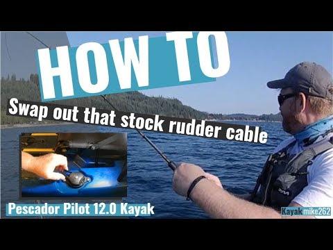 Perception Pescador Rudder Cable Swap