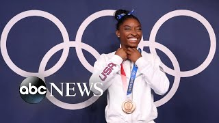 Simone Biles earns bronze in Olympic comeback   WNT