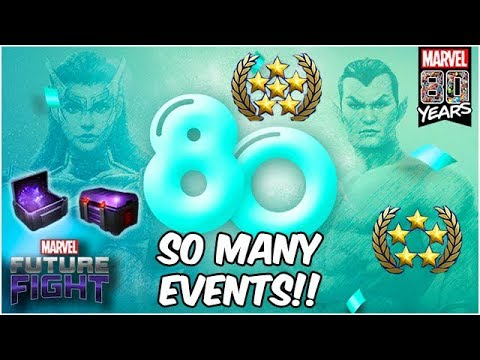80TH ANNIVERSARY EVENTS! 100 CCF & RANK UP TICKETS! - Marvel Future Fight