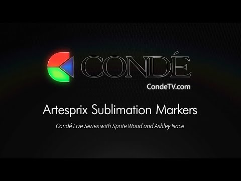 4/17/19 - LIVE with Artesprix Sublimation Markers