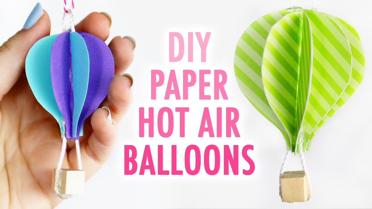 Diy cute paper hot air balloons hgtv handmade youtube solutioingenieria Image collections