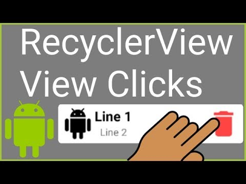 RecyclerView + CardView - Part 5 - CLICKING SPECIFIC ITEMS - Android Studio  Tutorial