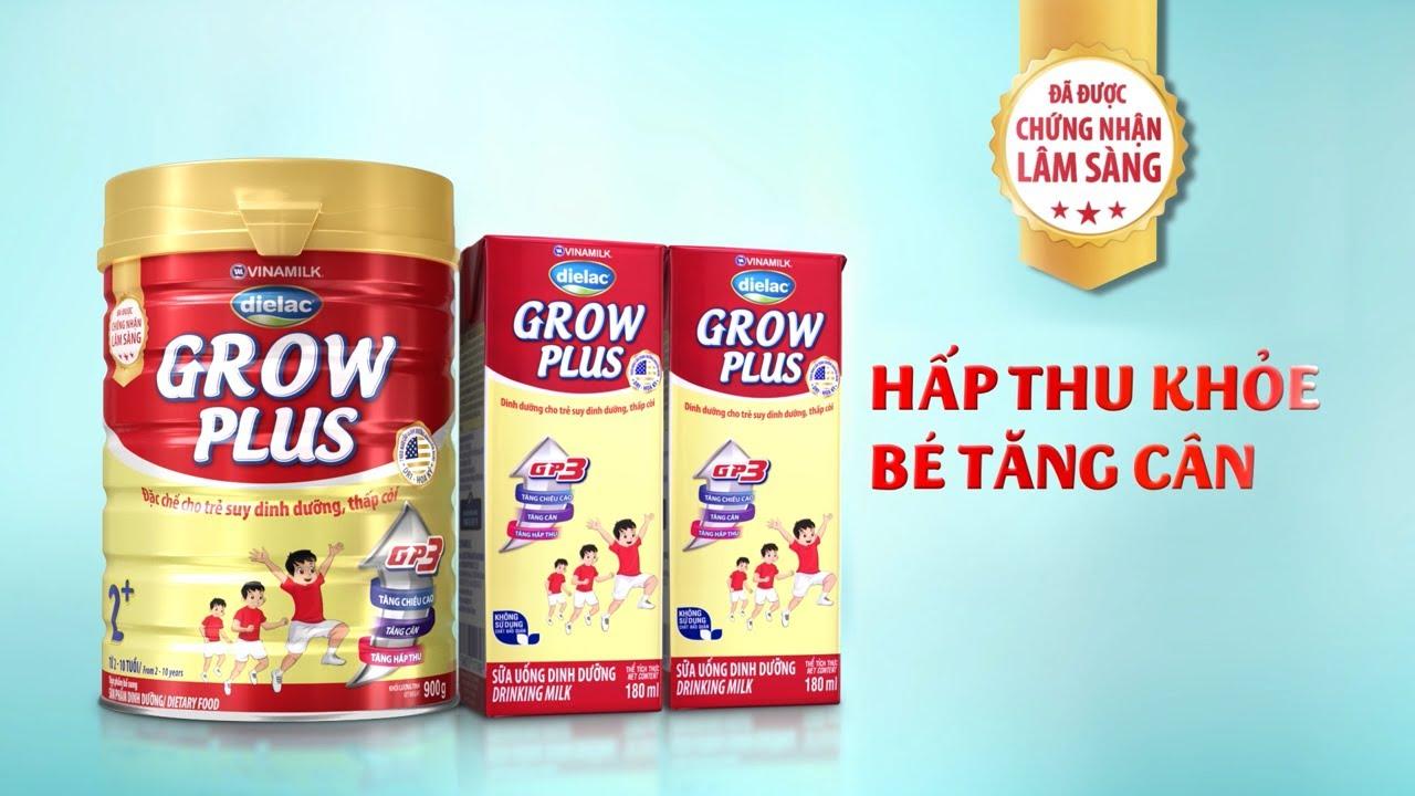 Dielac Grow Plus – Chuyên biệt cho trẻ suy dinh dưỡng, thấp còi – Hấp thu khỏe bé tăng cân