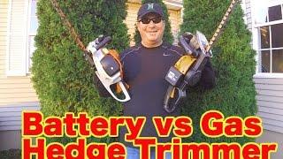 BATTERY vs GAS - HEDGE TRIMMER COMPARISON