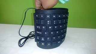 Budget Flexible Keyboard for Laptop, PC & Mobile Unboxing & Testing