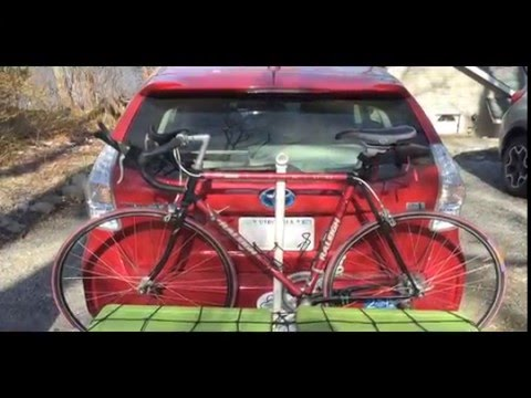 Fabricated bike rack on cargo carrier