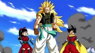 Dragon Ball Heroes - All Super Saiyan 3 Adult Gotenks & Buu Saga cutscenes | clips