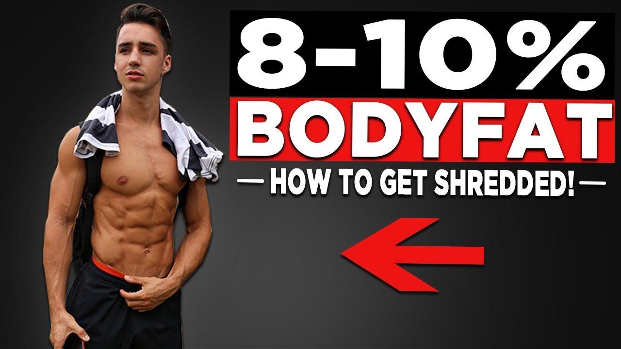 diet plan to get below 10 body fat
