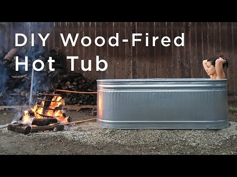 How to Make a DIY Wood-Fired Stock Tank Hot Tub in Your Backyard