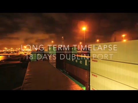 Timelapse  Burke Shipping Dublin Port HD