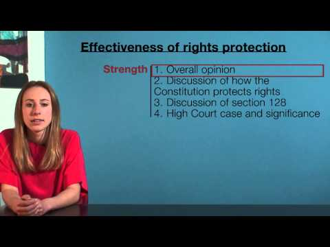 VCE Legal Studies - Effectiveness of Constitutional rights protection (sample answer)