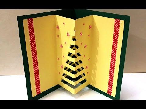 Diy christmas crafts how to make handmade 3d pop up for 3d xmas cards to make