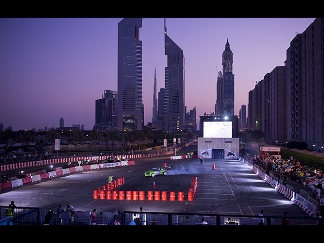 Motorbike Stunt in Dubai - Red Bull Car Park Drift 2013 Travel Video