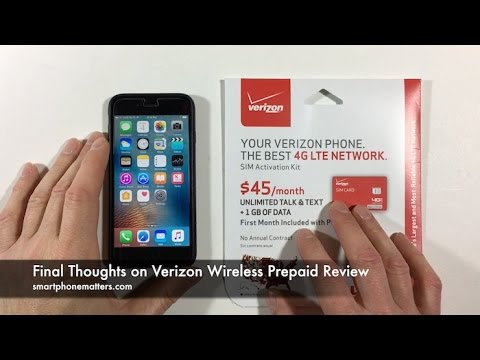 Final Thoughts On Verizon Wireless Prepaid Review