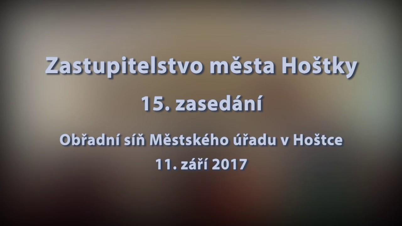 Zastupitelstvo města Hoštky - 15.  zasedání ze dne 11. 9. 2017