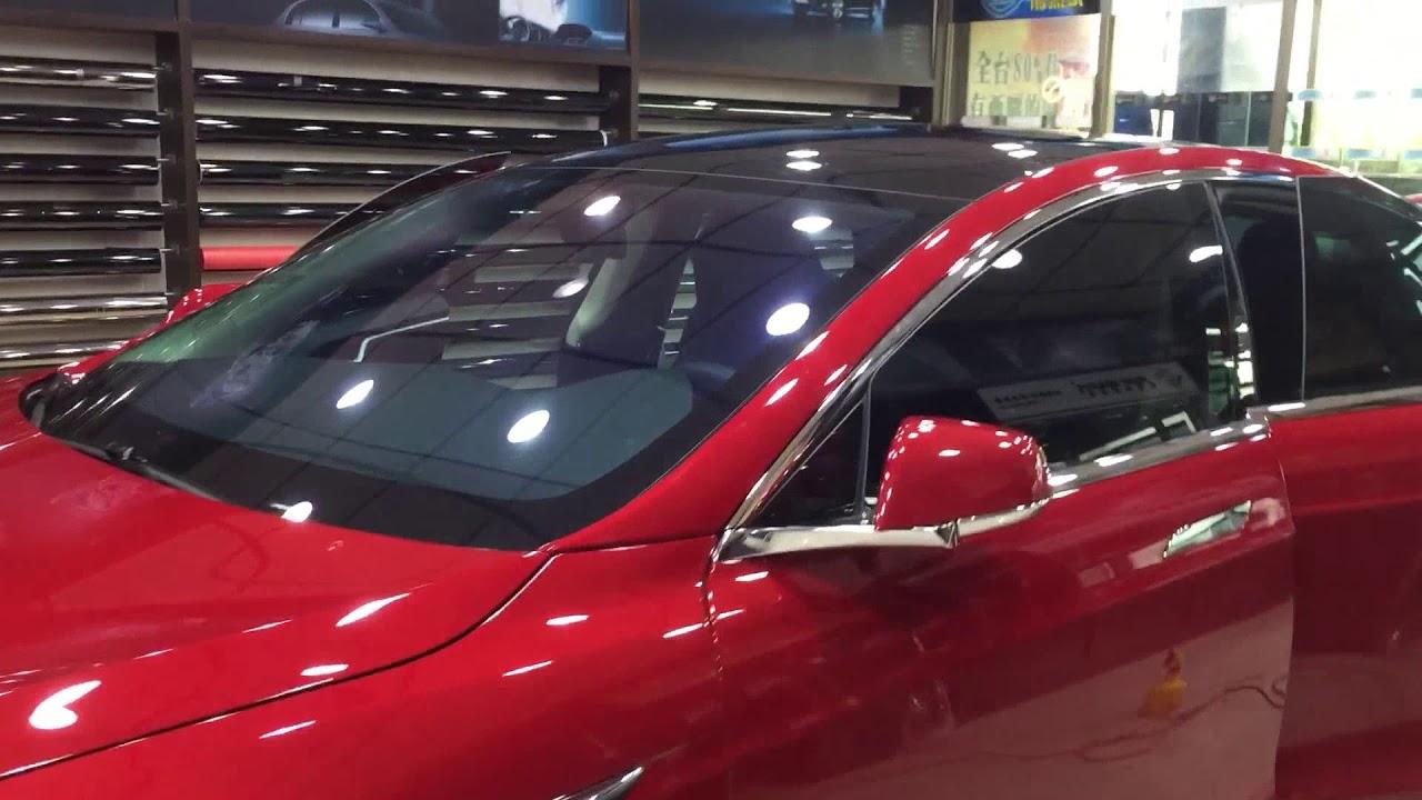 Tesla KT68+F20 冰鑽隔熱紙 北投信仁隔熱紙旗艦店 - YouTube