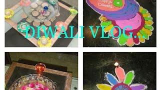 Diwali vlog...#Happy Diwali# Diwali shopping # rangoli # Diwali card # Diwali decorations