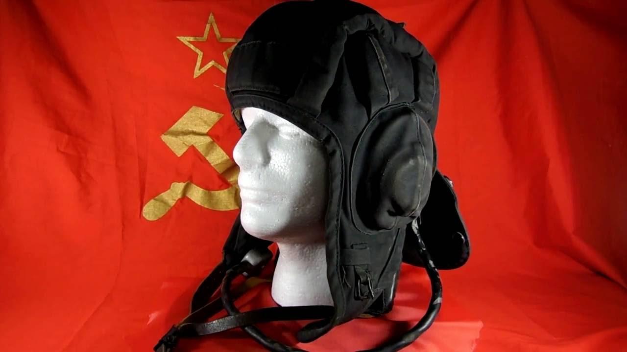 b5480a313553d ORIGINAL SOVIET USSR SUMMER TANK HELMET 1979 with mic and headphones size 3