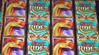 Sky Rider 10 cents machine $9 bet bonus ** SLOT LOVER **