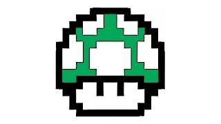 Wie zeichnet man einen Mario Pilz (grün, super)