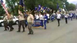 The Lincoln High School Marching Band parades around Lincoln for the annual Portuguese Picnic