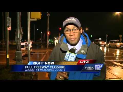 Stretch of I-94 from Rawson to Milwaukee-Racine county line closed until Sunday