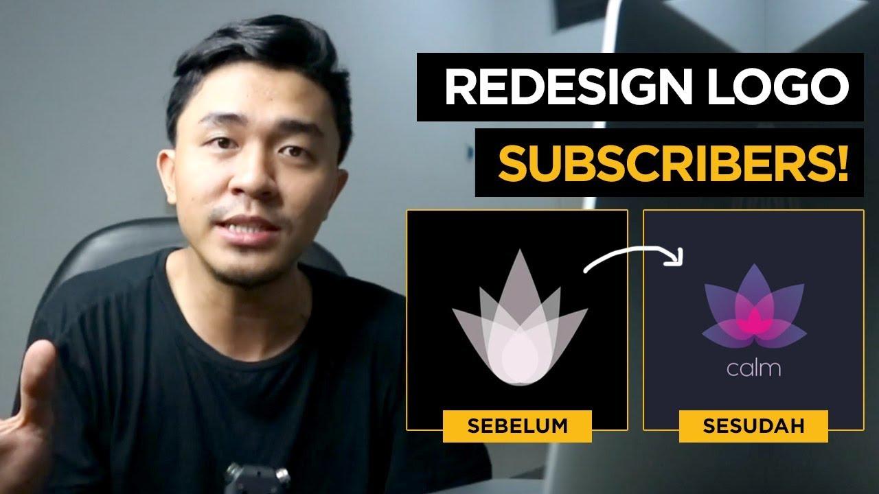 Redesain Logo Subscribers RLS Riopurba | Inspirasi Desain EP7