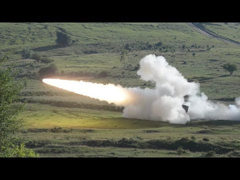 North Carolina National Guard shoot their High Mobility Artillery Rocket Systems