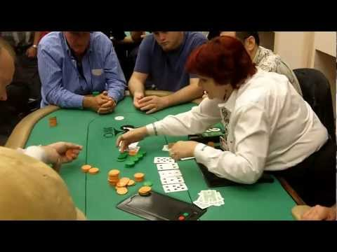 Pat Lyons bluffs off his chips