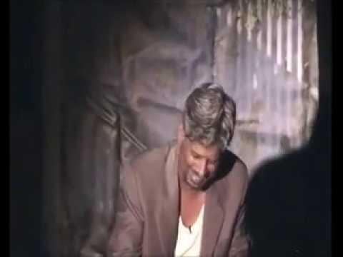 Actor using paint drum