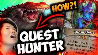 Using CHAMELEOS in QUEST HUNTER! | Houndmaster Shaw | The Witchwood | Hearthstone | Disguised Toast
