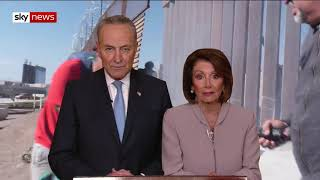 Nancy Pelosi, Chuck Schumer respond to Trump's speech on Human Trafficking and the Border Wall.